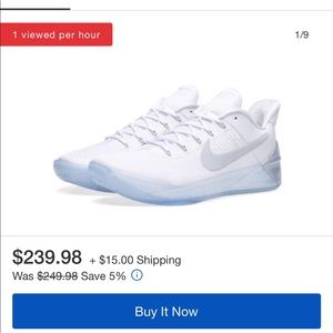 Men's Nike Basketball Kobe A.D. White/White NWT 18